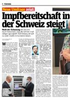 SonntagsBlick, 03.01.2021: Neue Umfrage zeigt: Die Impfbereitschaft in der Schweiz steigt